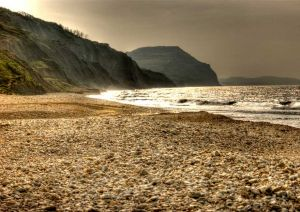 Golden Cap from Charmouth Beach