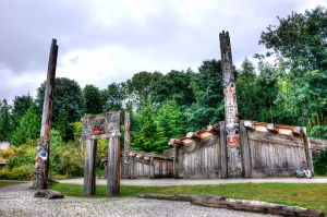 First Nation Reconstructed Village - UBC.