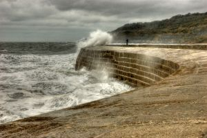 Wave Approaching - The Cobb, Lyme Regis
