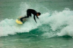 Surfer 2 - Photo Art.