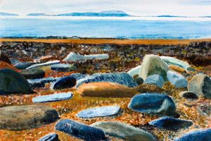 Solway Shore At Saltpans - 40x30cm - Original Painting on Card