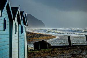 Beach Huts at Charmouth