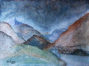 Shigar Valley - 40x30cm - Acrylic Painting on Canvas.