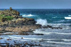 Porthmeor Rocks & High Waves.