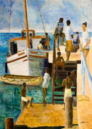 Carriacou Landing - 30x40cm - Original Painting on Card