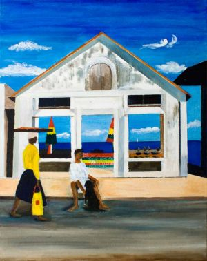Carriacou Shopping - 40x50cm - Original Painting on Canvas