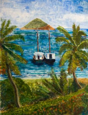 Windward Traders - 30x40cm - Original Painting on Card